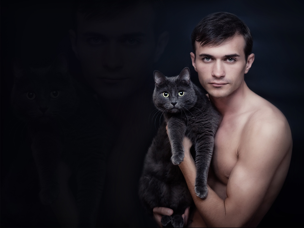 мудрости, парень с кошкой картинка это напоминает
