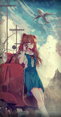 Фото Сорью Аска Лэнгли / Asuka Langley Soryu из аниме Евангелион / Evangelion