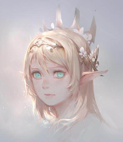 Фото Девушка-эльф с цветами в волосах