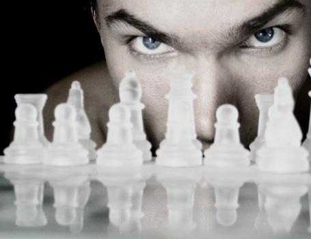 Фото Взгляд на шахматные фигуры