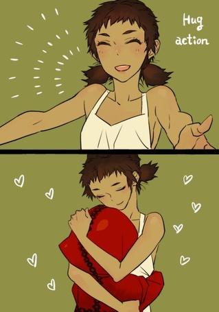Фото Девушка в белом обнимает Робин из игры The Path / Тропа, Hug action (объятия)
