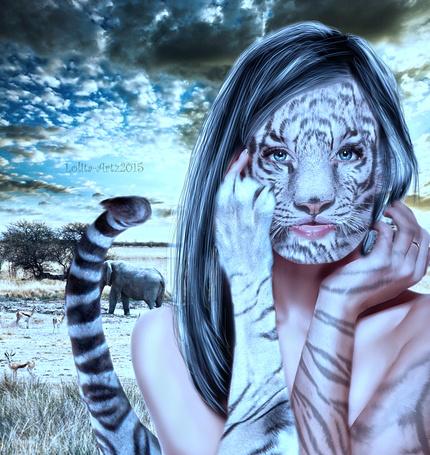 Фото Девушка с лицом леопарда, by Lolita-Artz