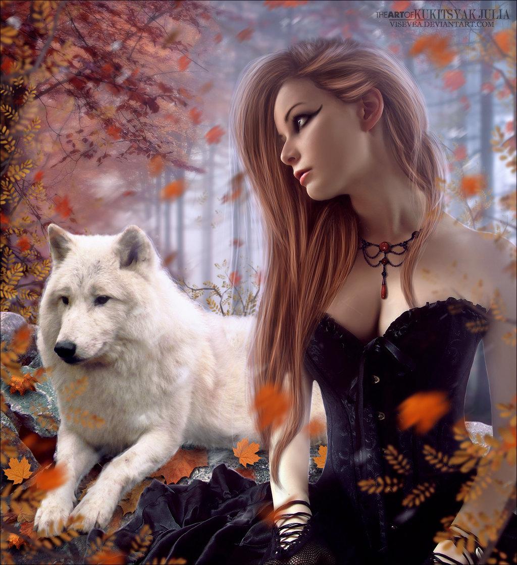 Классные картинки, картинки с волком и надписями с рыжей