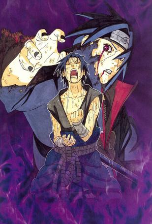 ���� �������� �������� ����� ��������, Uchiha Itachi � Sasuke Uchiha, ����� ������ / Naruto, art by Masashi Kishimoto (� Romi), ���������: 05.08.2015 08:45
