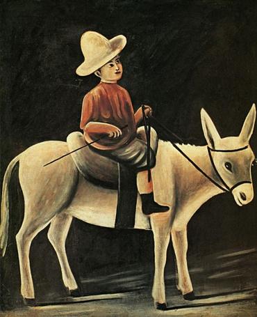 Фото Мальчик на осле. Работа Нико Пиросмани