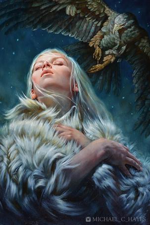 Фото Светловолосая девушка и орел, автор Michael-C-Hayes