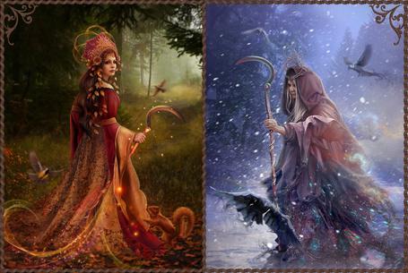 Фото Мара – богиня смерти, дочь Лады. Внешне Мара выглядит как высокая красивая девушка с черными волосами в красных одеждах. Мару нельзя назвать ни злой и ни доброй богиней. С одной стороны она дарует смерть, но в то же время она же дарует и жизнь, Славянская мифология, by Vasylina