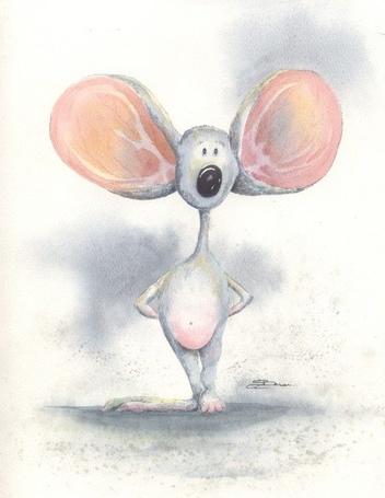 Фото Мышка с большущими ушами
