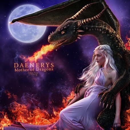 Фото Дейенерис Таргариен / Daenerys Targaryen из сериала Игра престолов / Game of Thrones, by Esther Puche-Art