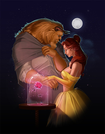 Фото Белль и Чудовище из сказки Красавица и чудовище / Beauty and the Beast, by Diablera