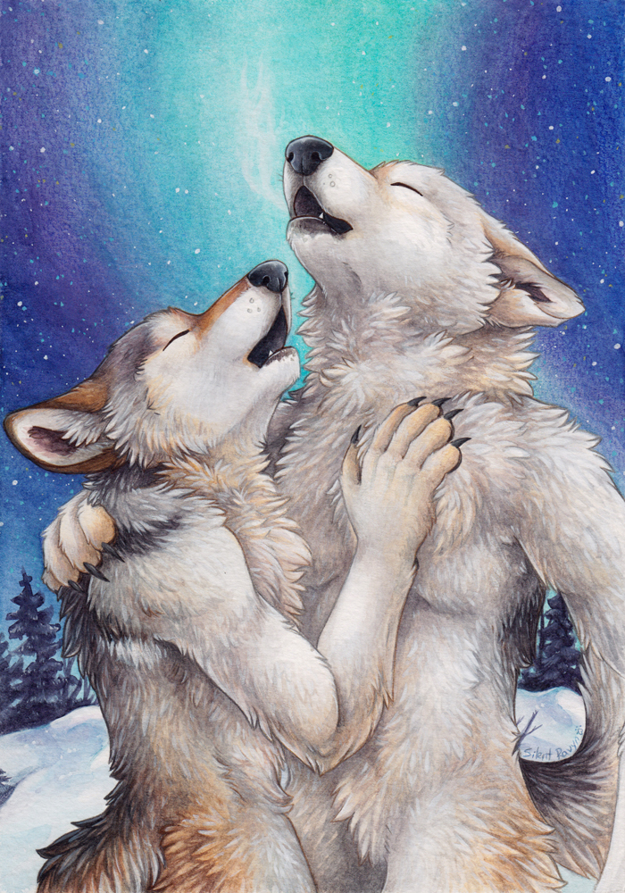 Картинки спокойной ночи влюбленные волки