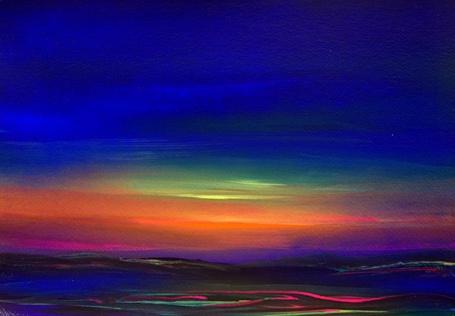 Фото Красный закат над морем