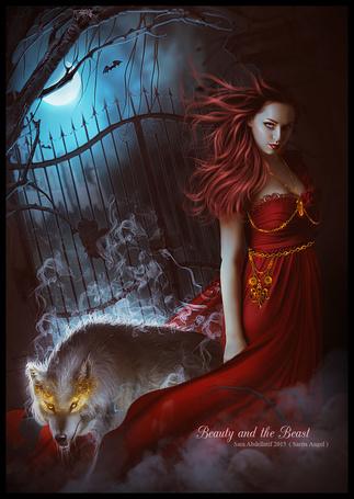 Фото Девушка и волк (Beauty and the Beast), работа saritaangel07