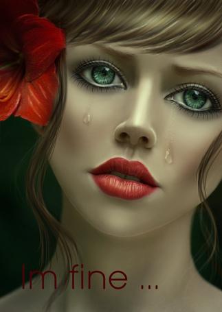 Фото Девушка со слезами на лице (Im fine./ Я в порядке.), работа shiny-shadows-Art