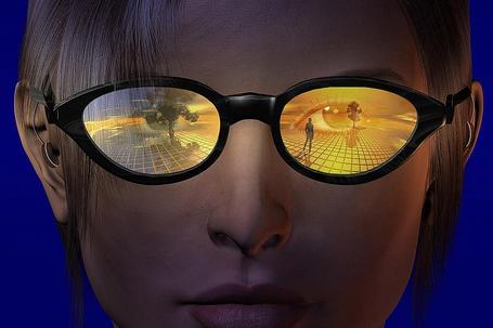 Фото Виртуальная реальность в очках с желтыми стеклами, художники Carol and Mike Werner