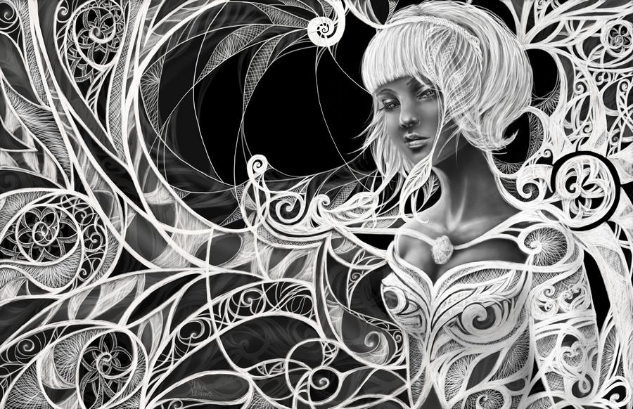 Картинки в черно белом цвете абстракция