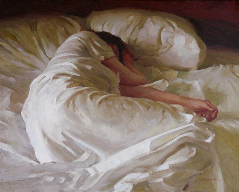 Девушка, на кровати, ножки, кровать: картинки, фото, обои для