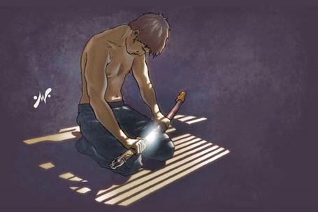 Фото Парень достает катану и собирается совершить сепукку, by MatthewWarlick