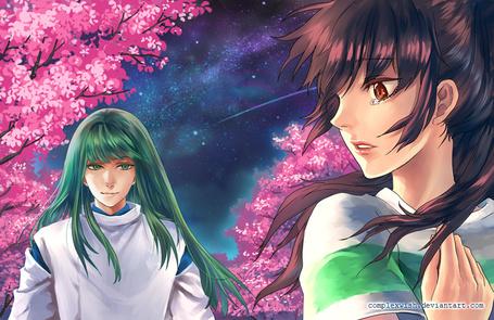 Фото Тихиро / Chihiro и Хаку / Haku из аниме Унесенные Призраками / Spirited Away, by ComplexWish