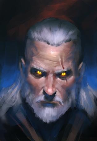 Фото Ведьмак с дьявольскими глазами