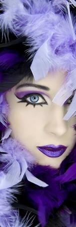 Фото Девушка в фиолетовом цвете