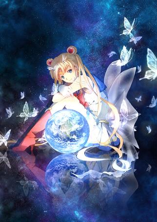 Фото Usagi Tsukino / Усаги Цукино / Сейлор Мун / Seilor Moon из аниме Bishoujo Senshi Sailor Moon / Красавица-воин Сейлор Мун
