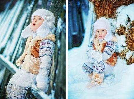 Фото Маленький ребенок на снегу, фотограф Мария Струтинская