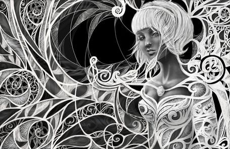 Фото Черно-белый рисунок ангела, автор Юлия