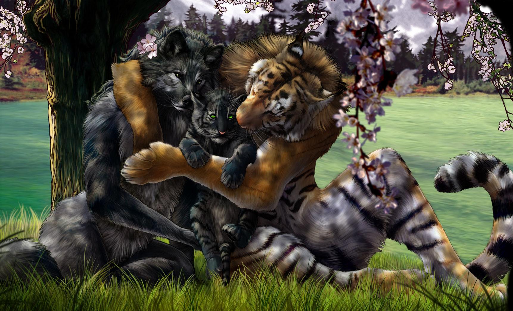 была картинки волков и тигров фэнтези подозревают, что зверь