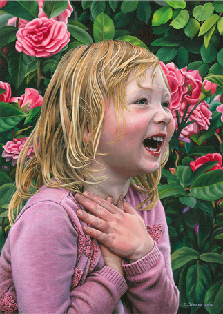 Фото Девочка стоит на фоне цветов, by NewAgeTraveller