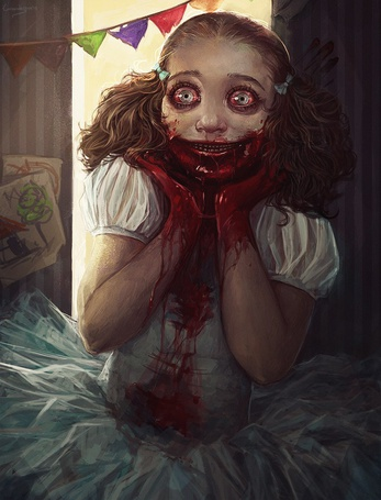 Фото Девочка с окровавленными руками, by LoranDeSore