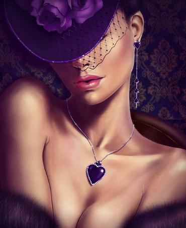 Фото Загадочная леди в фиолетовых тонах, deviant art