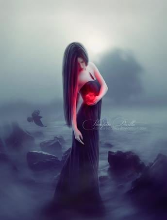 Фото Девушка держит в руке сердечко, by VampireDarlla