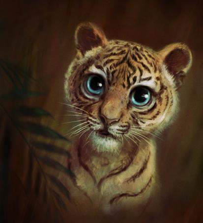 милый тигренок рисунок
