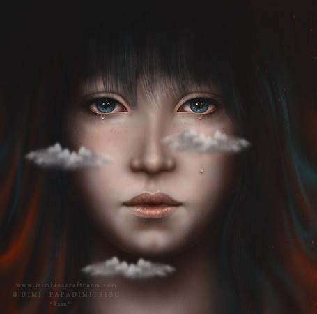 Фото Девушка, перед лицом которой плывут облака, by mimikascraftroom