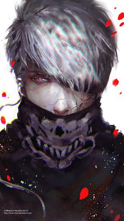 Фото Белокурый парень с трещинами на лице, by Innervalue