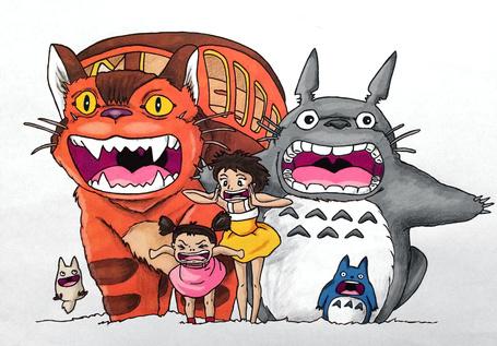 Фото Кричащие персонажи из аниме Мой сосед Тоторо / My Neighbor Totoro, by LMushrimp