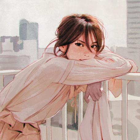 Фото Милая девушка на фоне города, ву Кувшинов Илья