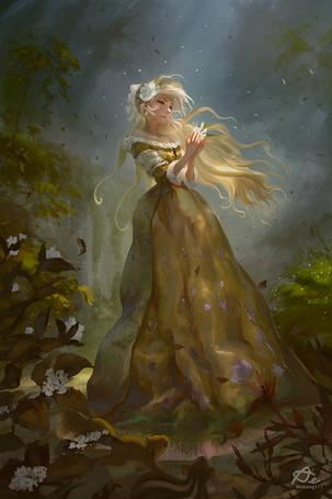 Фото Девушка держит в руках призрачное существо, by webang111