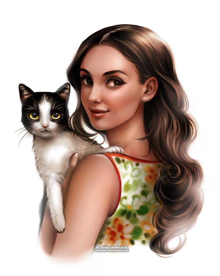Кошка в виде девушки картинка