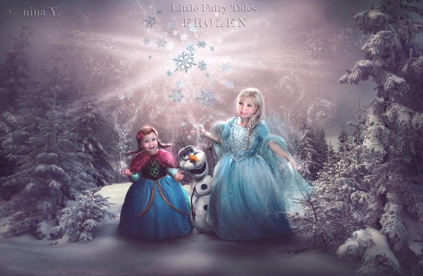 Фото Elsa / Эльза и Anna / Анна и Олаф / Olaf из мультика Frozen / Холодное, by Nina Y