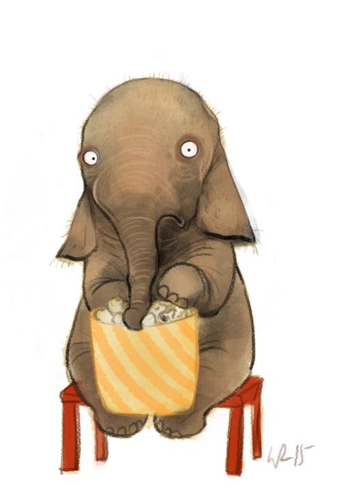 Открыток девушке, слон смешные рисунки