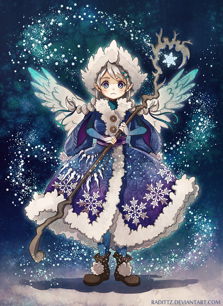 Фото Рождественский ангелок с посохом в руках, by Radittz
