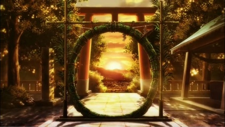 Фото Тростниковый венок для обряда очищения в храме Гинтаро / Gintarou из аниме Серебряный лис / Gingitsune