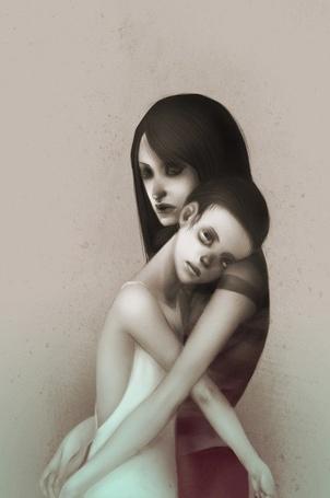 Фото Руби и девочка в белом из игры тропа / The Path
