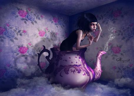 Фото Страшная девочка в кофейнике, by Manon-M