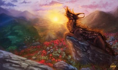 Фото Дракон на вершине горы, by Enaxn
