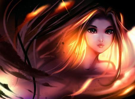 Фото Девушка с золотыми волосами, by ryky