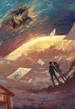 Фото Yato / Ято и Hiyori Iki / Хиери Ики из аниме Noragami / Бездомный Бог