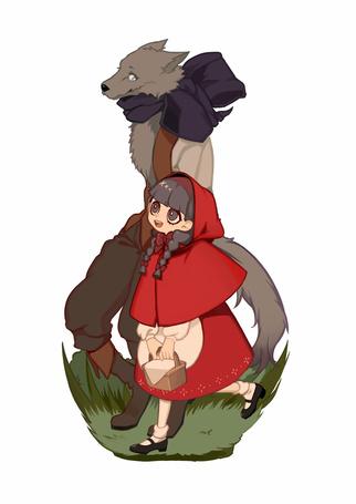 Фото Красная шапочка и волк